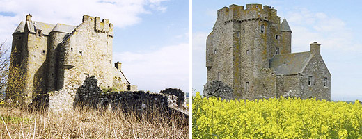Inchdrewer Castle - an incomplete restoration